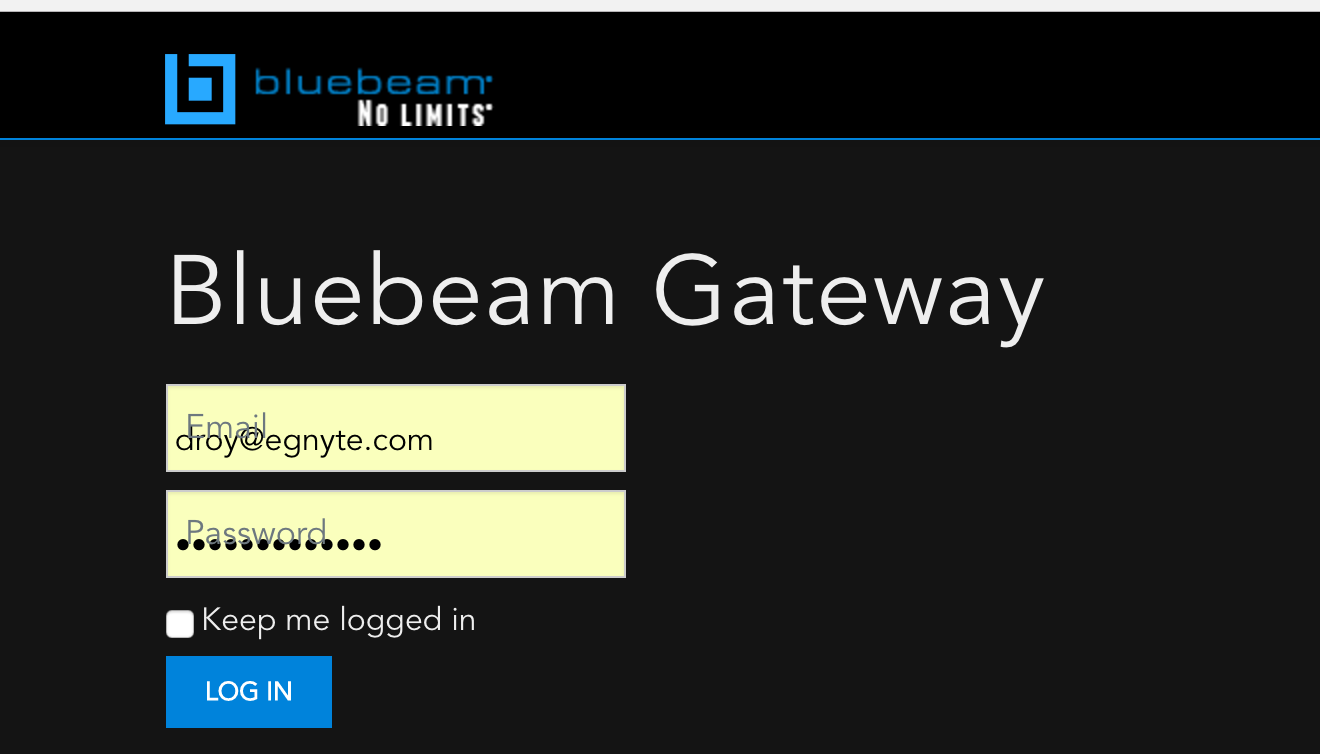 Bluebeam Sessions Integration – Egnyte