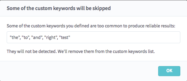 Custom Keywords – Egnyte