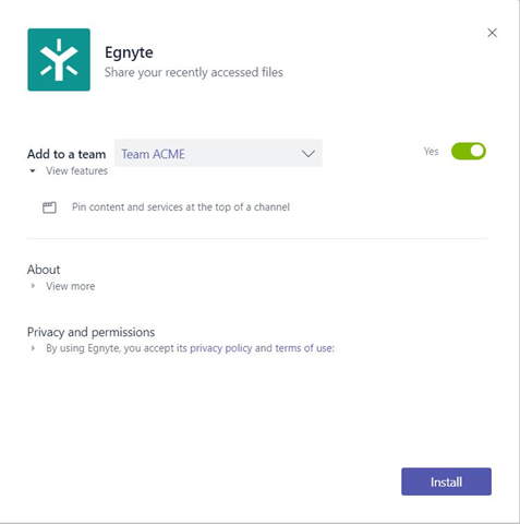 Egnyte for Microsoft Teams – Egnyte