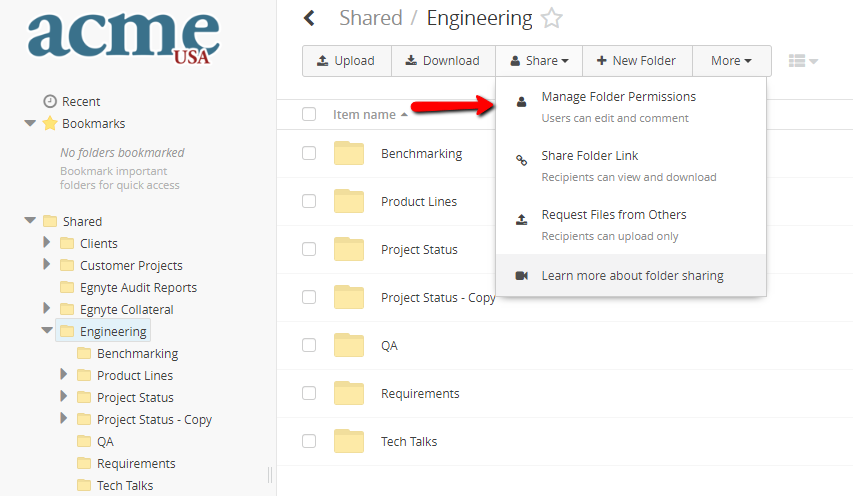 Sharing With File Folder Links In Egnyte Egnyte