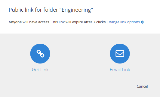 Share with File and Folder Links in the Web UI – Egnyte