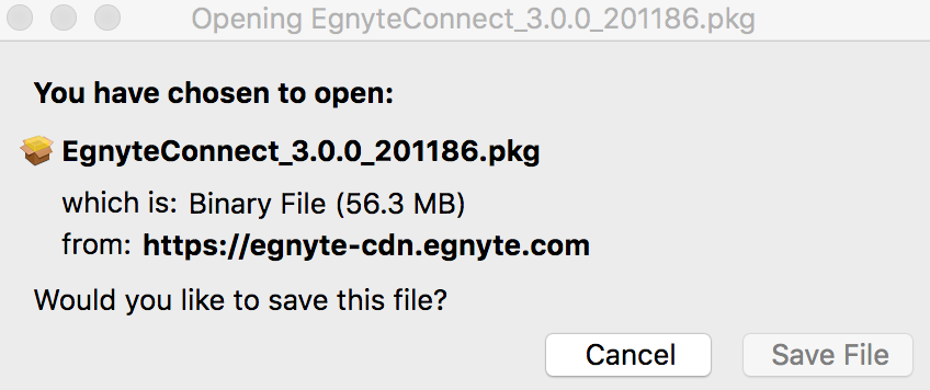 Desktop App for Mac Installation – Egnyte