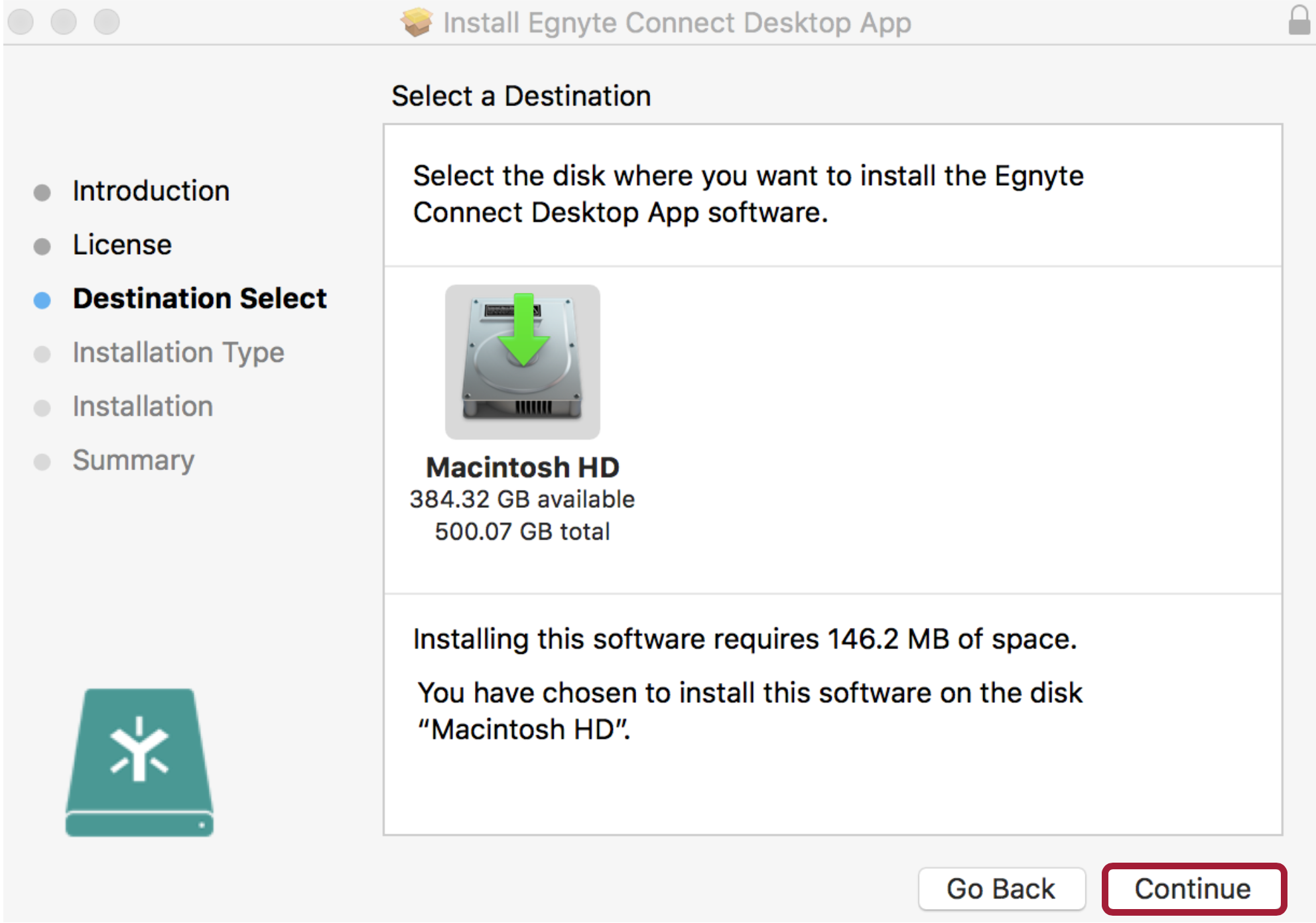 how to add egnyte drive for mac