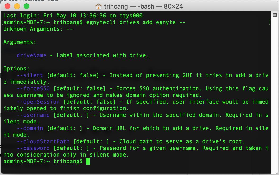 Mac Command Line Interface for Desktop App – Egnyte