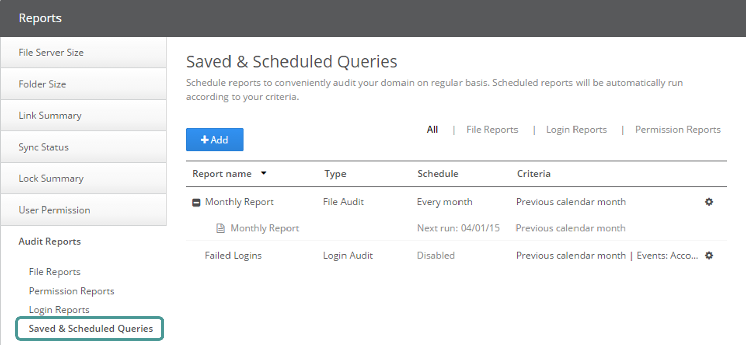 Saving A Query Can Be Useful If You Regularly Need To Reuse A Set Of Common  Criteria When Creating An Audit Report. Scheduling A Query Adds An Added  Benefit ...