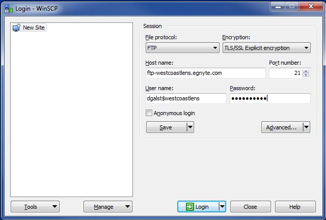 WinSCP FTP Client (Windows) – Egnyte
