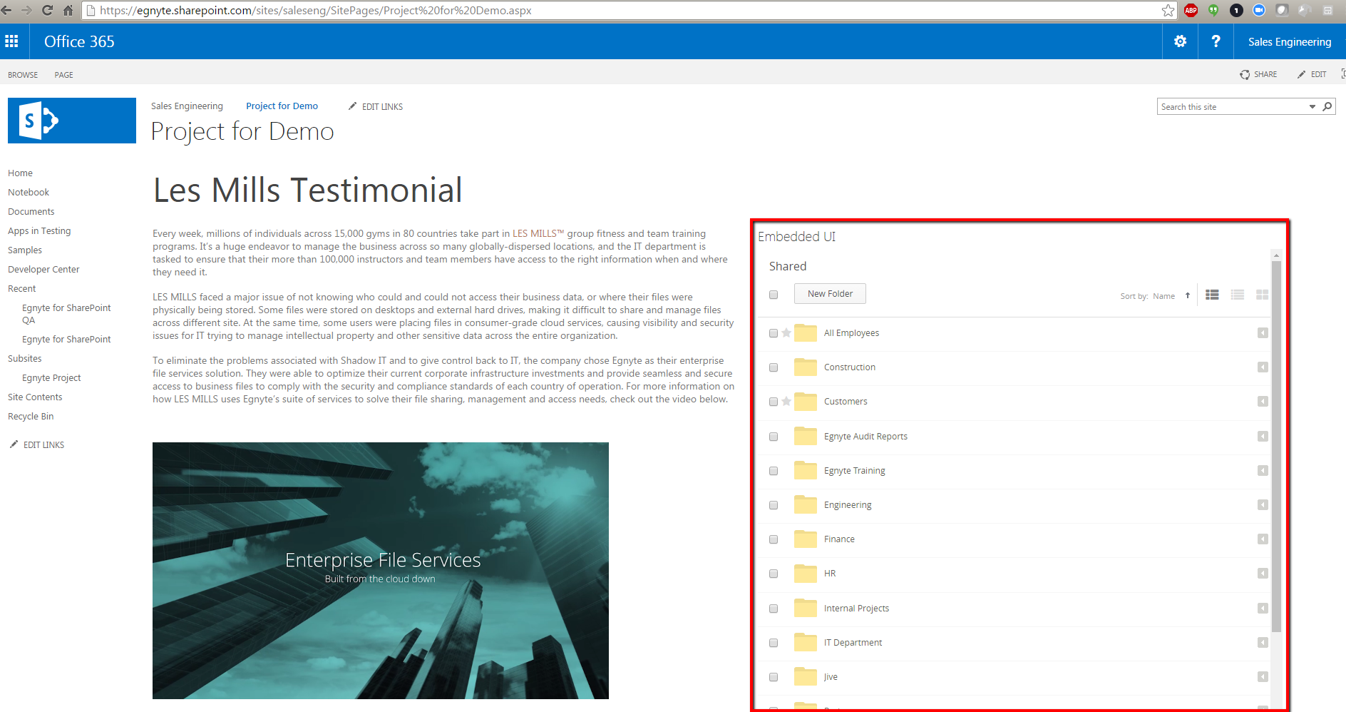 Microsoft Integration with Egnyte – Egnyte